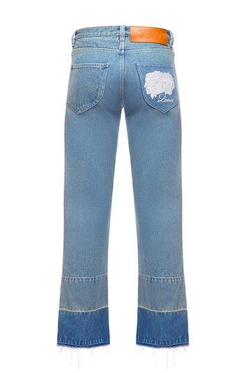 LOEWE 5ポケットジーンズフェーシスエンブロイダリー インディゴ front