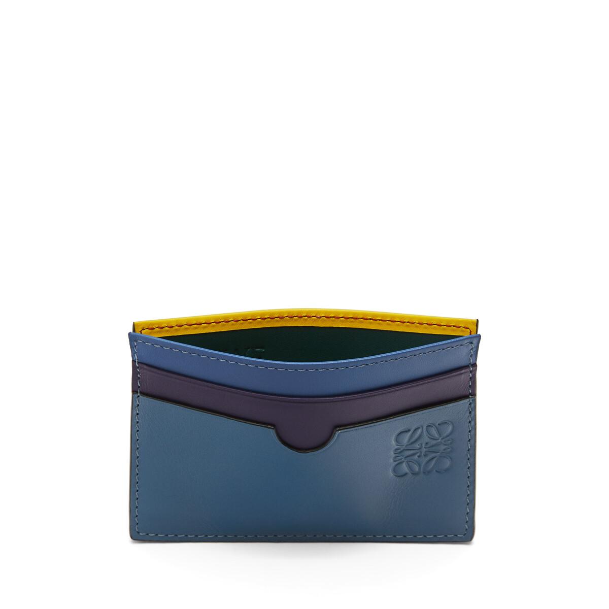 LOEWE Rainbow Plain Cardholder Blue/Multicolor front