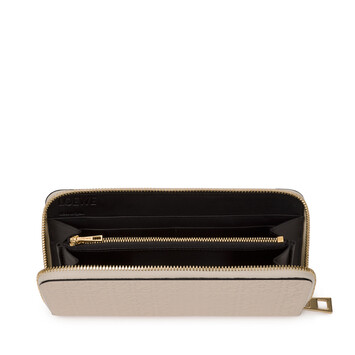 LOEWE Repeat Zip Around Wallet Ivory front