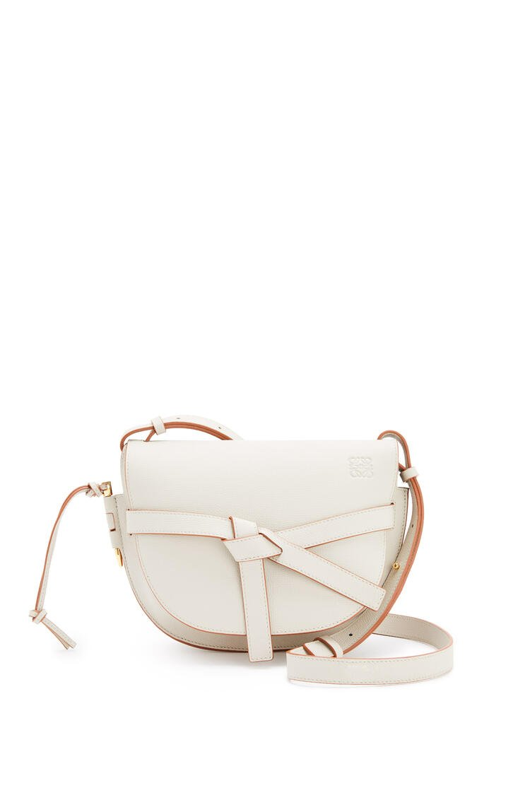 LOEWE Small Gate bag in pebble grain calfskin Light Ghost pdp_rd