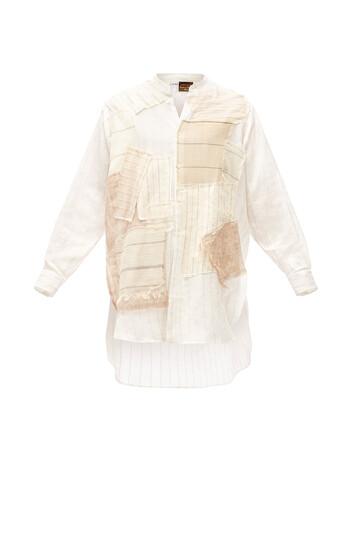LOEWE Paula Patchwork Long Shirt White front