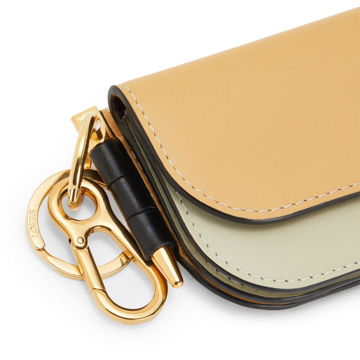 LOEWE Gate Mini Wallet Gold/Light Olive front
