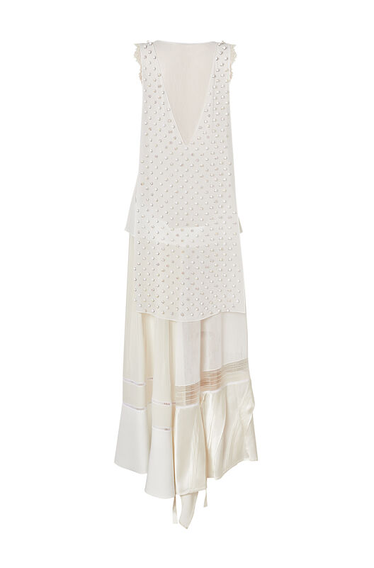LOEWE Beaded Dress White front