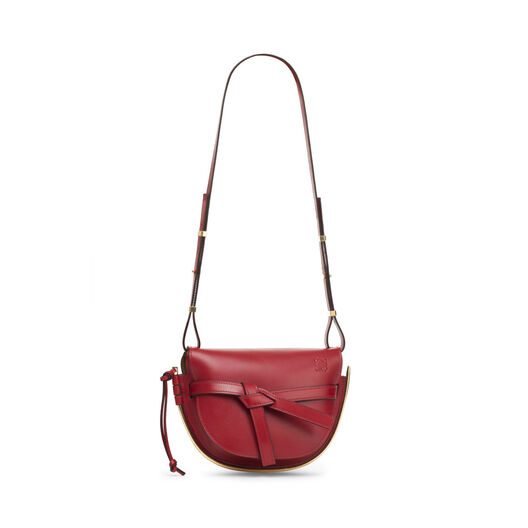 LOEWE Gate Frame Small Bag 暗红色 all