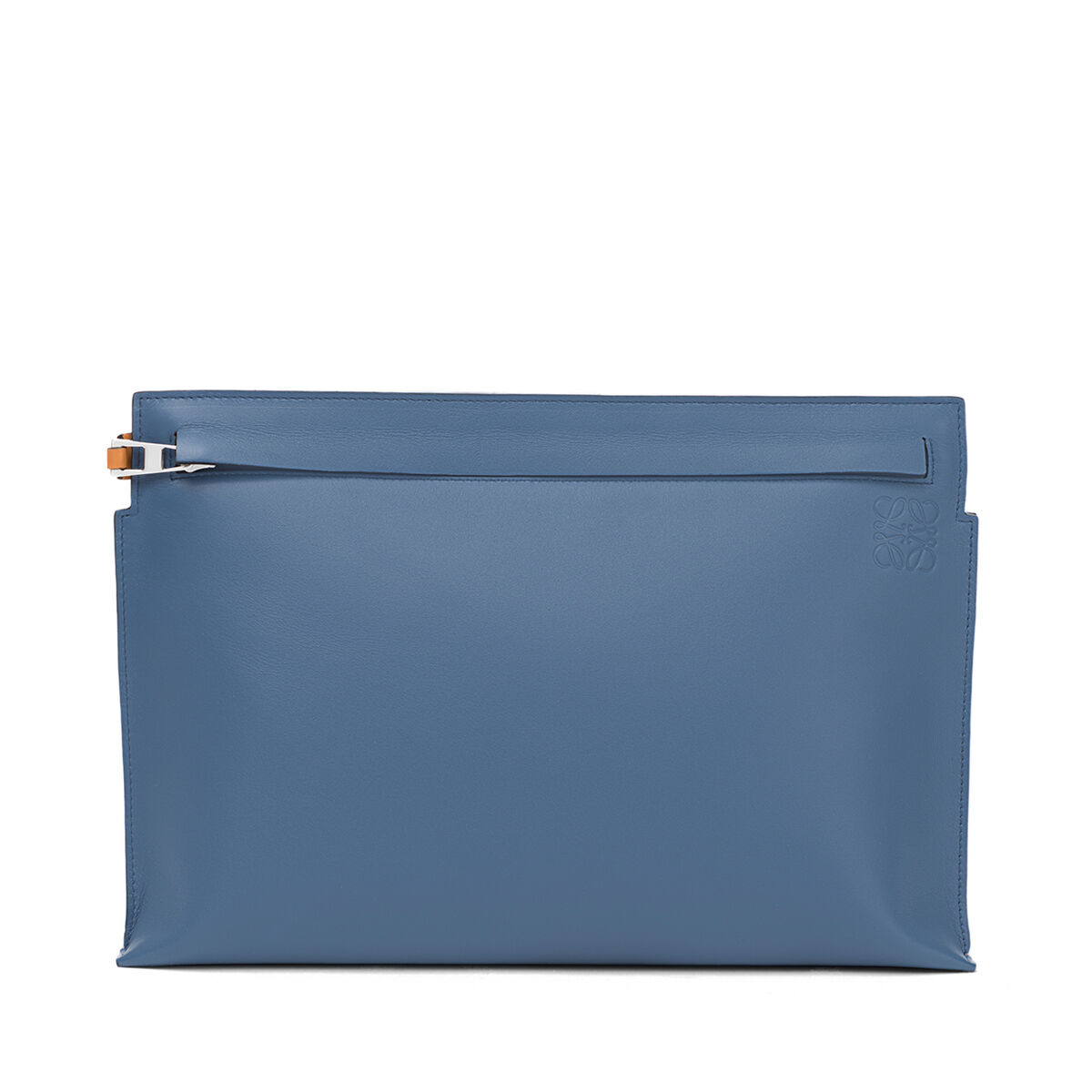 LOEWE T Pouch Bag Varsity Blue/Amber front