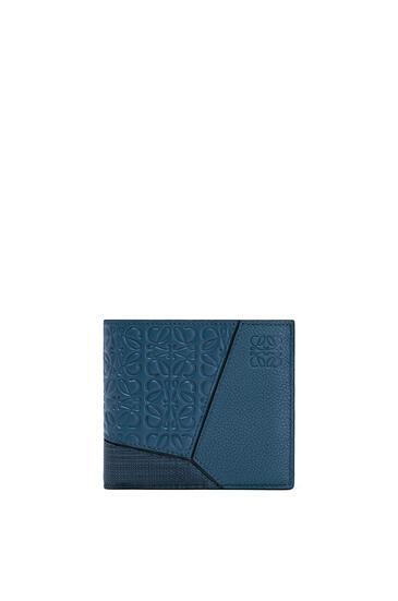 LOEWE Puzzle bifold wallet in calfskin Indigo pdp_rd
