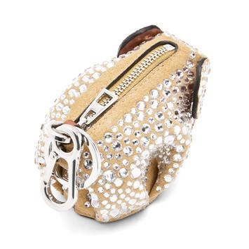 LOEWE Charm Elefante Oro/Cristal front