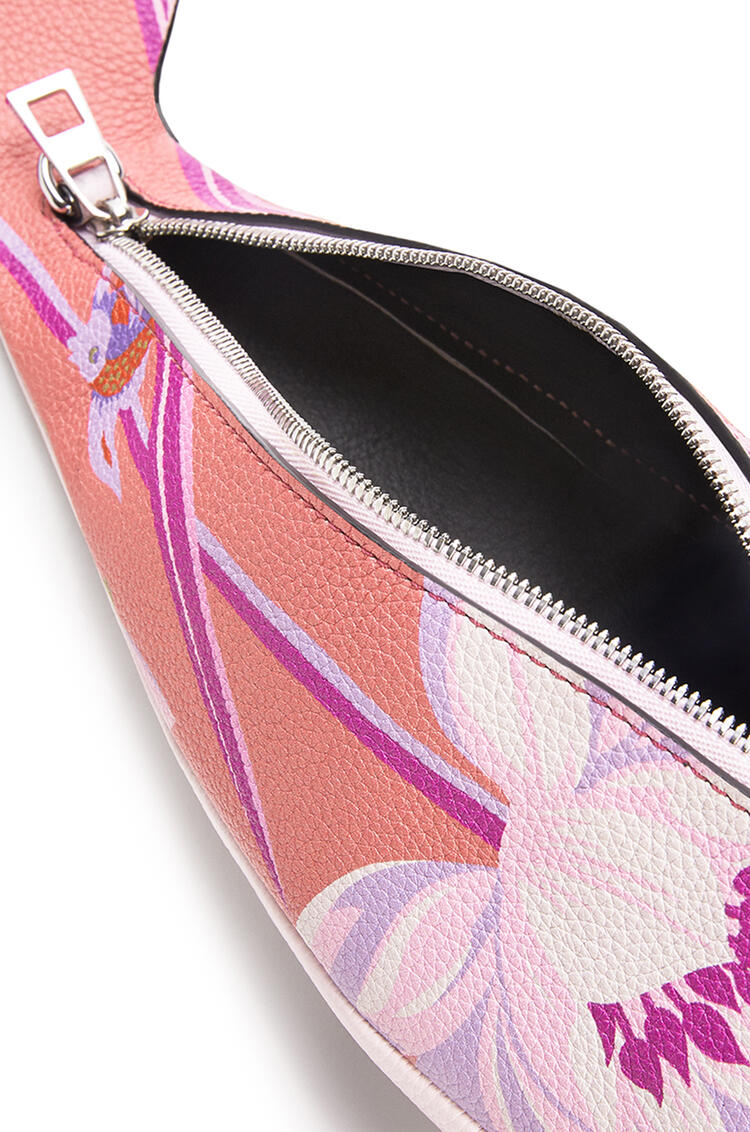 LOEWE Mini Dolphin bag in printed classic calfskin Pink pdp_rd