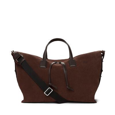 LOEWE Weekender With Strap Bag Espresso Brown/Brown front