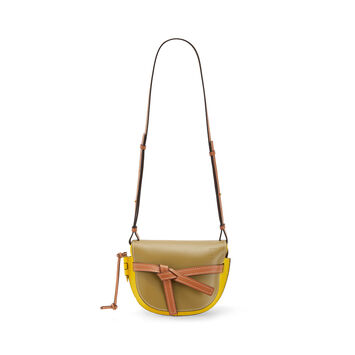 LOEWE Gate Small Bag Leaf/Yellow front