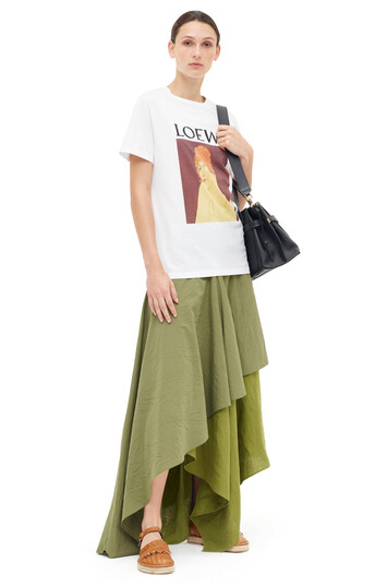 LOEWE Asymmetric Skirt Khaki Green front
