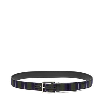 LOEWE Stripe Belt 黑色/海军蓝/金属灰 front