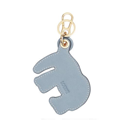 LOEWE Elephant Leather Charm Light Blue/Stone Blue front