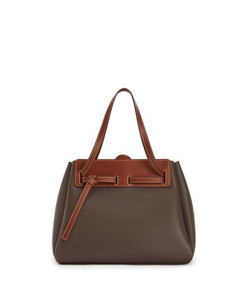 LOEWE ラゾショッパー Dark Taupe/Tan front