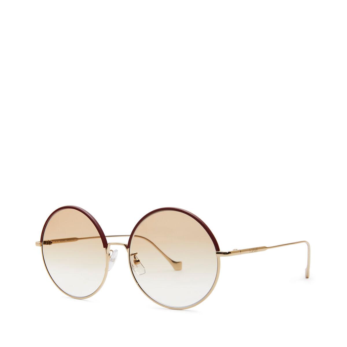 LOEWE Gafas Redondas Burdeos/Polvo front