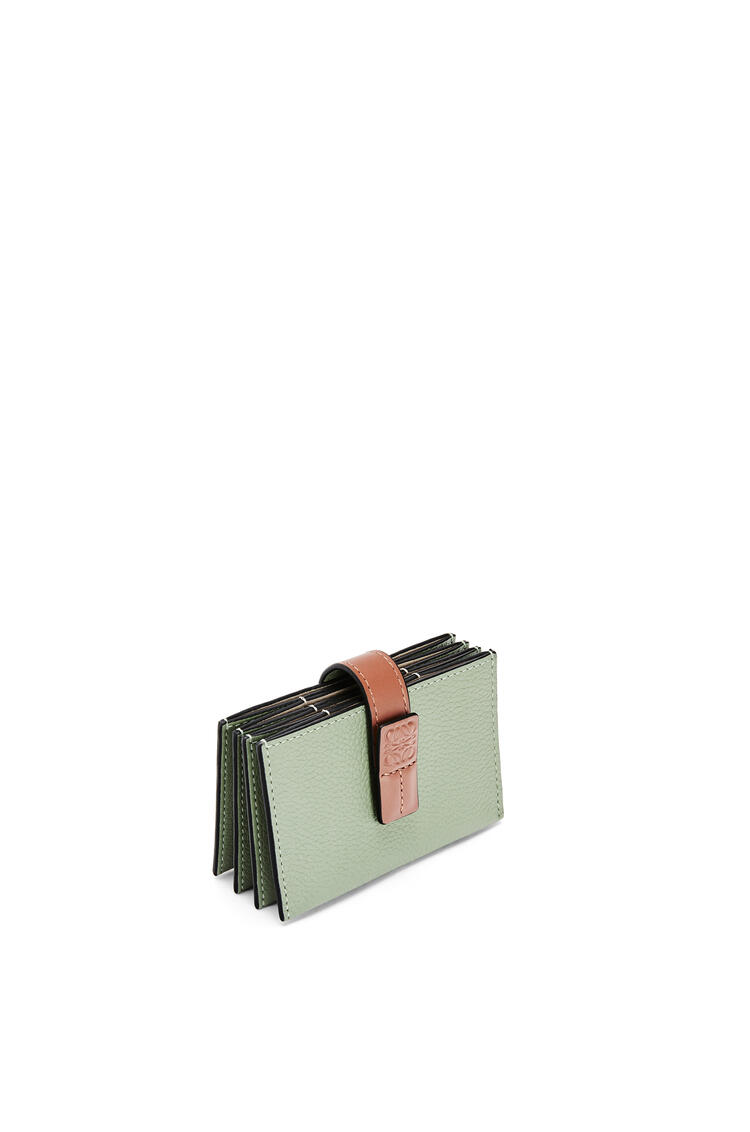LOEWE Accordion cardholder in soft grained calfskin Rosemary/Tan pdp_rd