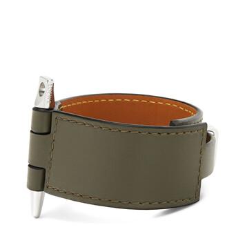 LOEWE Gate  Bracelet Khaki Green front