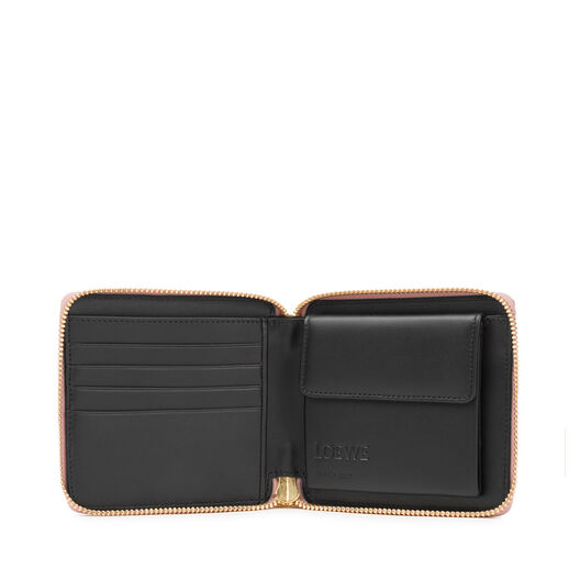 LOEWE Puzzle Square Zip Wallet Blush Multitone all