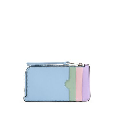 LOEWE Rainbow Coin/Card Holder Black/Multicolor front