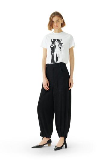 LOEWE Balloon Trousers Jacquard Black front
