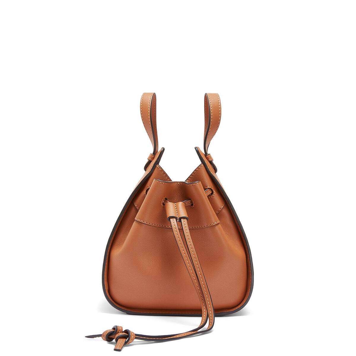 LOEWE Hammock Drawstring Mini Bag Tan front