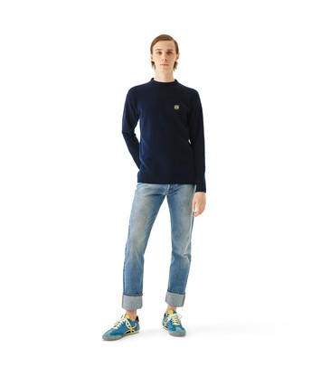 LOEWE Anagram Sweater Navy Blue front