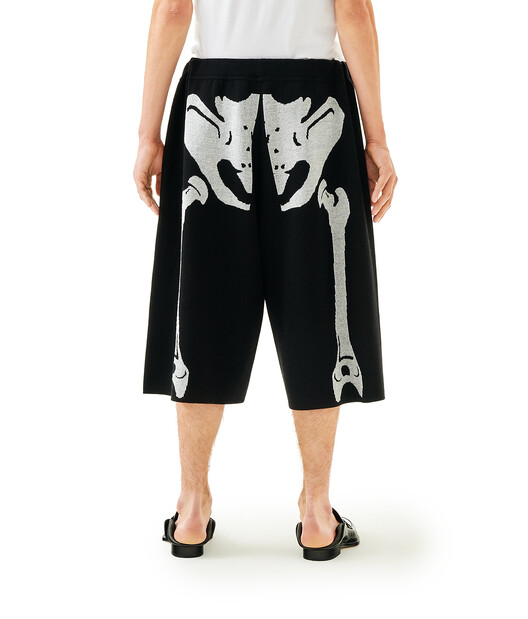 LOEWE Skeleton Shorts Black/White front