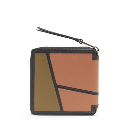 LOEWE Puzzle Square Zip Wallet Pink Tulip/Mocca all