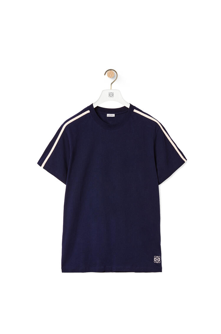 LOEWE Anagram embroidered T-shirt in cotton Navy Blue pdp_rd