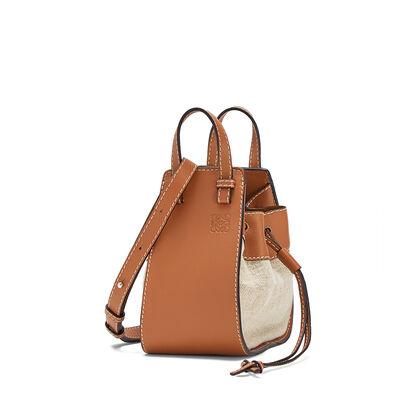 LOEWE Mini Hammock Dw Bag Tan/Natural front