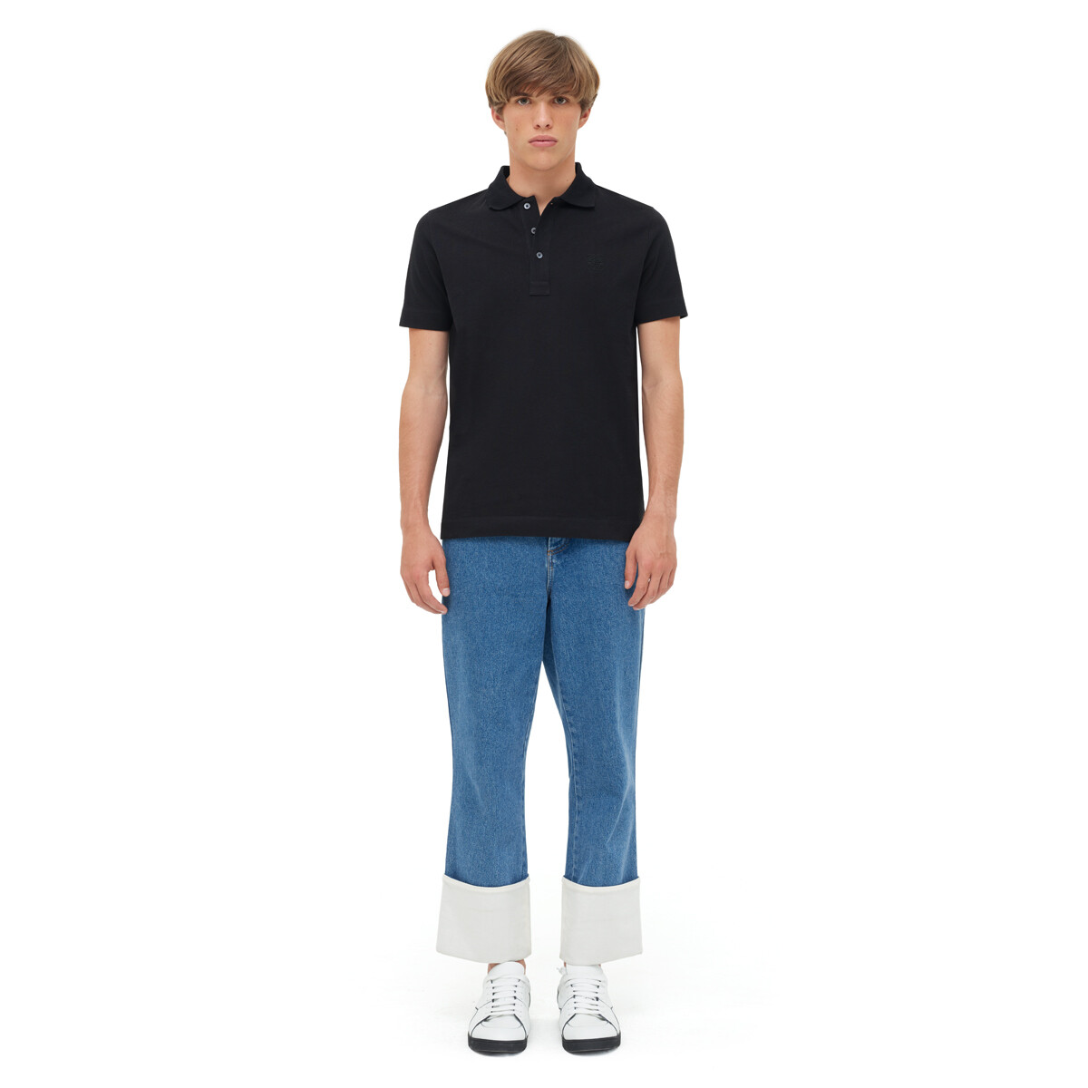 LOEWE Anagram Polo 黑色 front