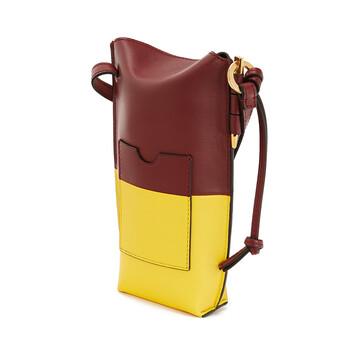 LOEWE Gate Pocket Wine/Yellow front