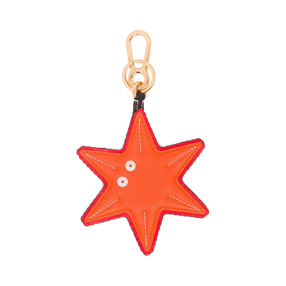 LOEWE Starfish Charm orange/black front