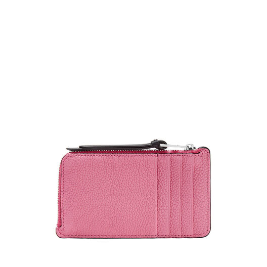 LOEWE Coin/Card Holder Large Wild Rose/Raspberry front