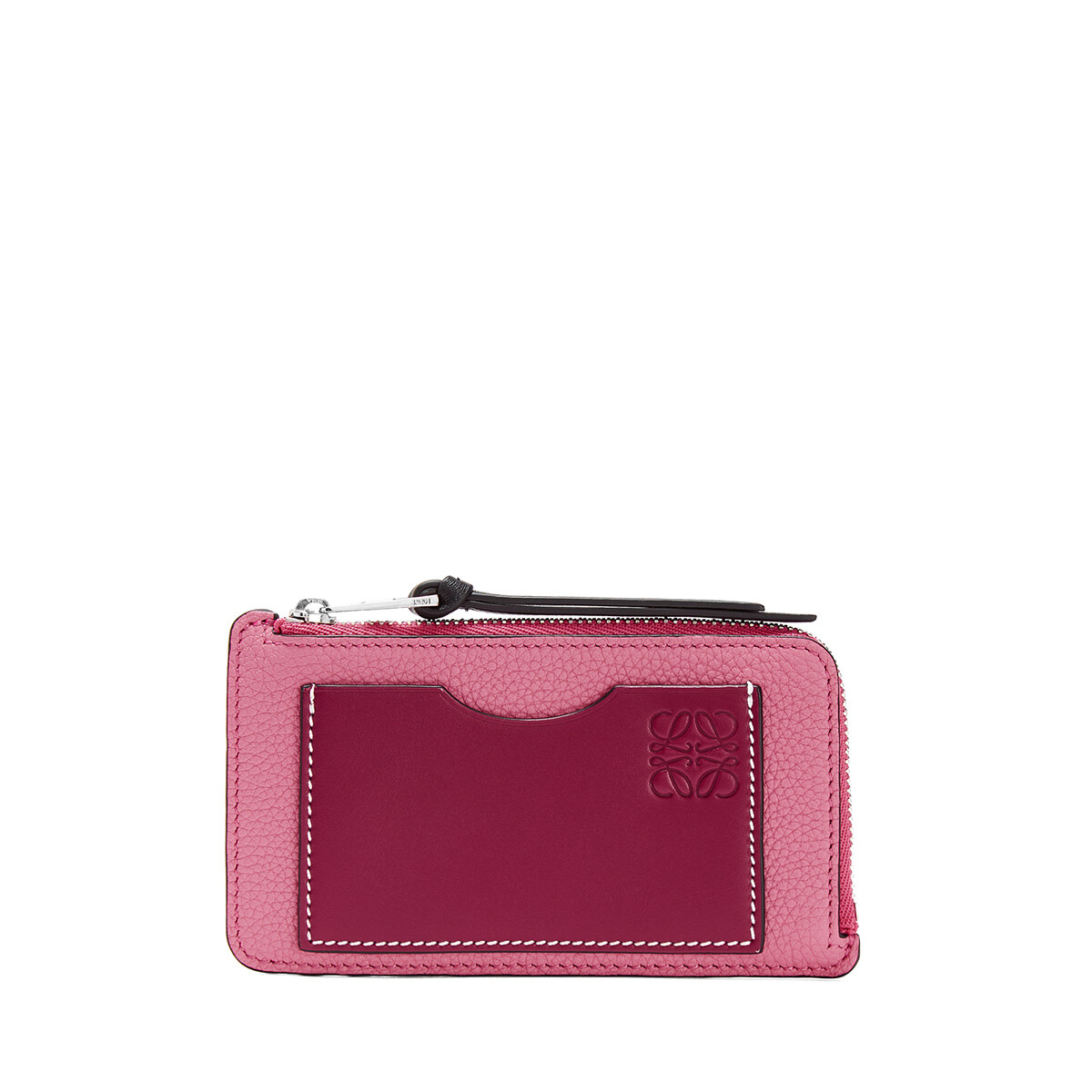 LOEWE Coin Cardholder Large Wild Rose/Raspberry front