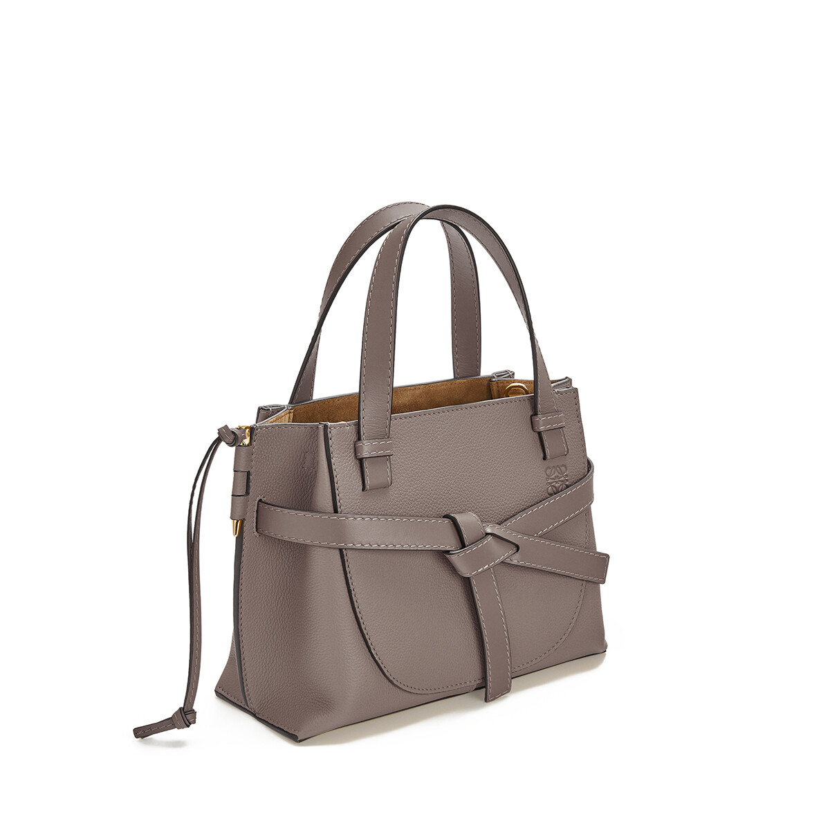 LOEWE Gate Top Handle Mini Dark Taupe front