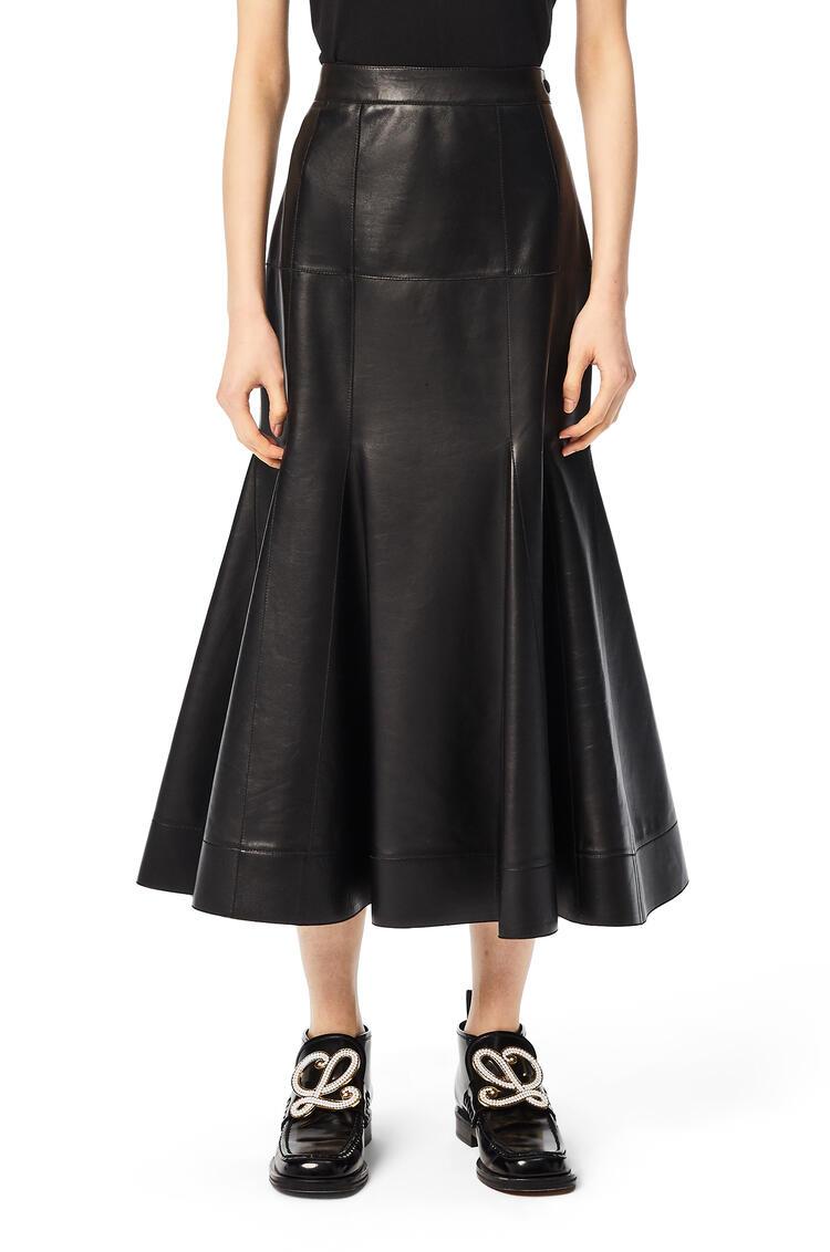 LOEWE Godet skirt in nappa Black pdp_rd