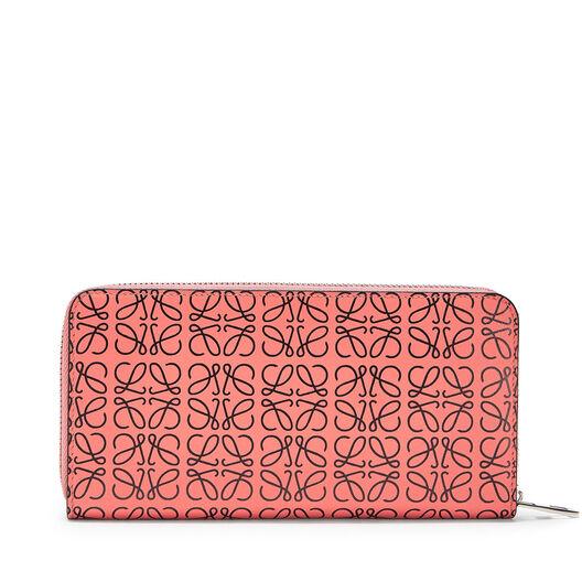 LOEWE Zip Around Wallet Pink Tulip/Black all