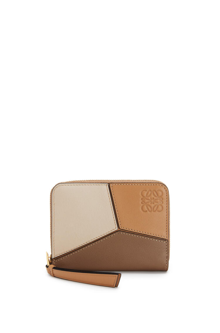 LOEWE Puzzle 6 card zip wallet in classic calfskin Warm Desert/Mink Color pdp_rd