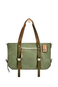 LOEWE Tote bag in canvas Khaki Green pdp_rd