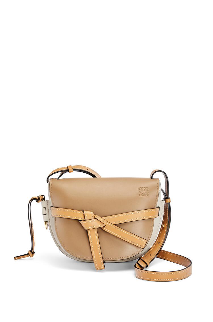 LOEWE Small Gate bag in soft calfskin Mink Color/Light Oat pdp_rd