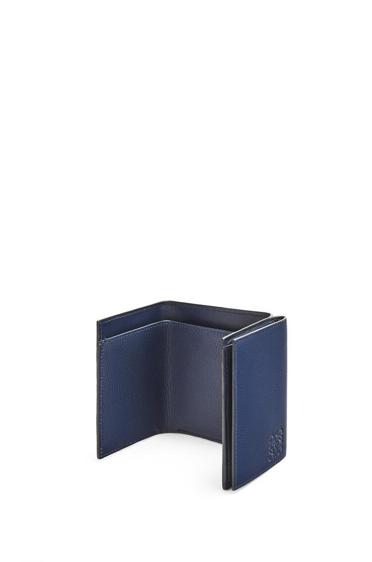 LOEWE Trifold wallet in calfskin Navy Blue pdp_rd