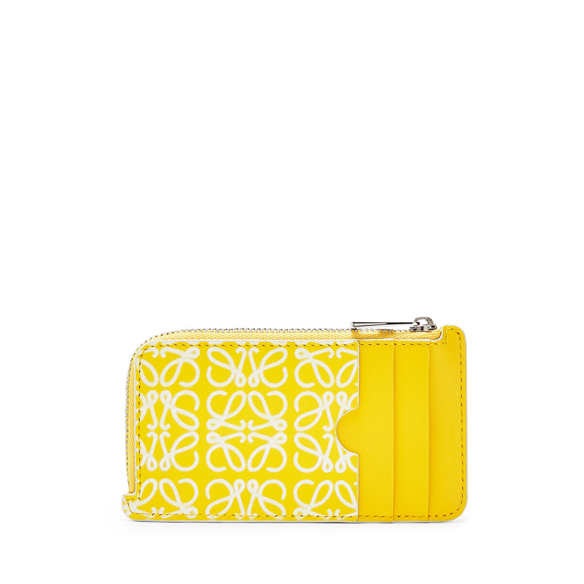 LOEWE Coin/Card Holder Yellow/White all