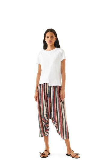 LOEWE Camiseta Anagrama asimétrica en algodón Blanco pdp_rd