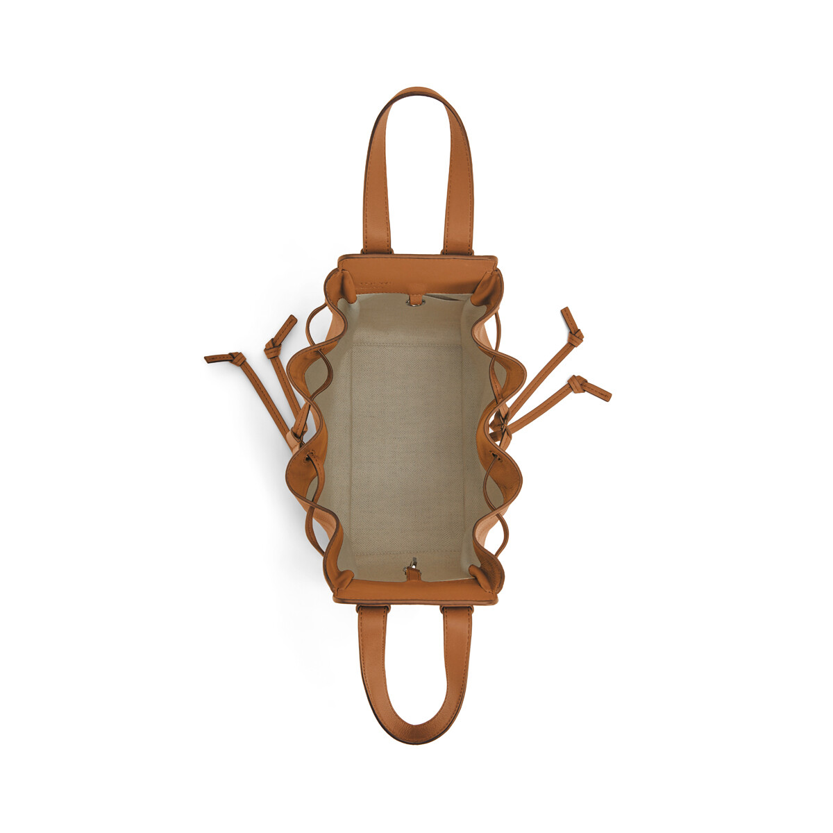 LOEWE Hammock Drawstring Small Bag Light Caramel front