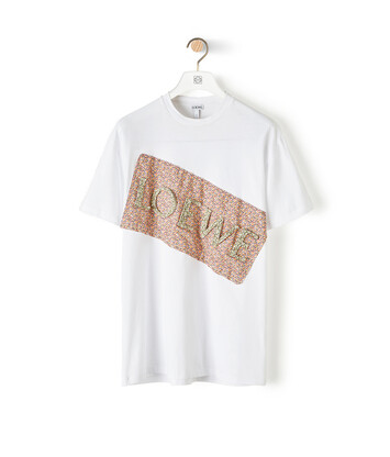 LOEWE Flower Loewe Patch T-Shirt Blanco front
