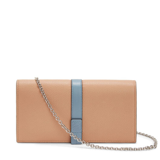 LOEWE Wallet On Chain Powder/Stone Blue front