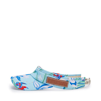 LOEWE Visor In Waterlily Canvas Aqua front