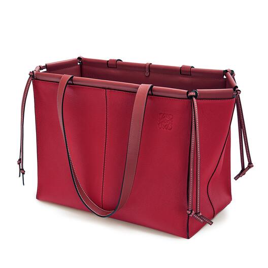 LOEWE Cushion Tote Raspberry front
