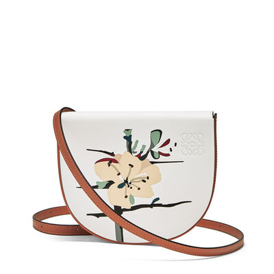 LOEWE Heel Mini Bag  Botanical Soft White/Tan front